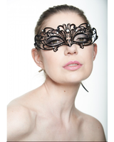 Kayso Laser Cut Mask with Clear Rhinestones