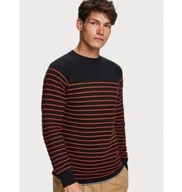 Scotch & Soda SS Crew Stripe