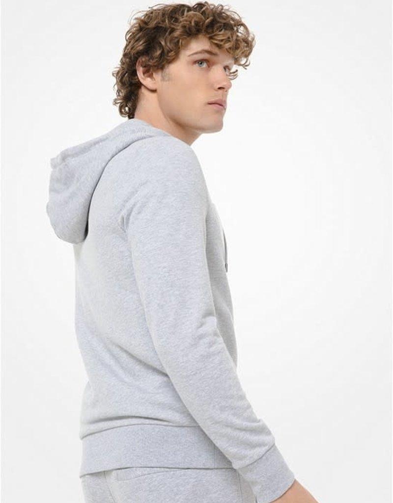 Michael Kors MK Cotton Blend Zip-Up Hood