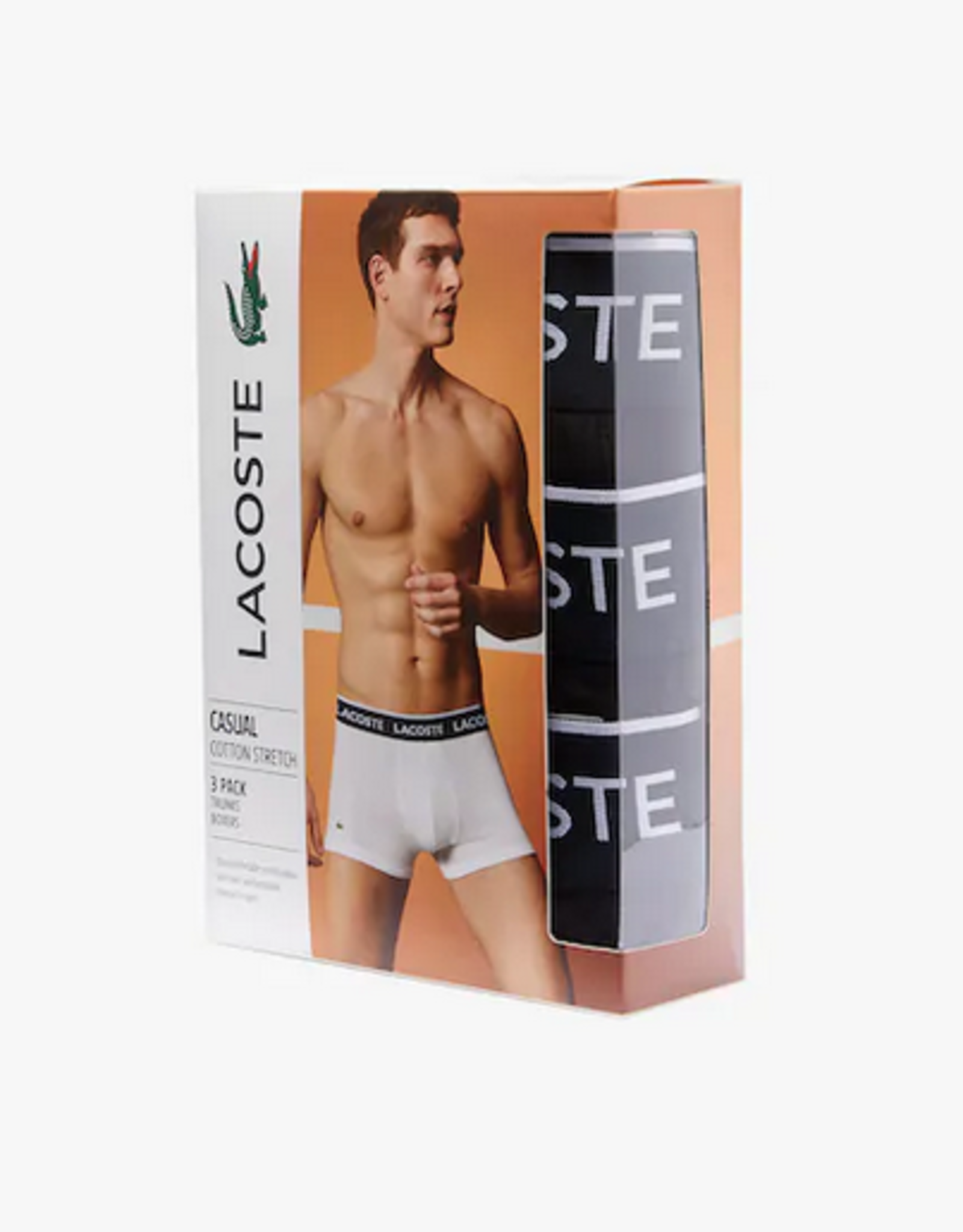 Lacoste LC BOXER COURT /3PACK/BLACK