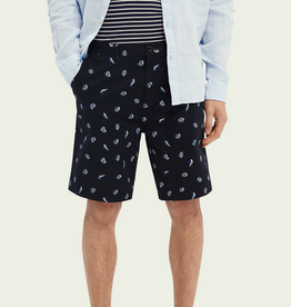 Scotch & Soda SS STUART ALL OVER PRINT PIMA COTTON SHORT NAVY