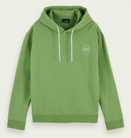 Scotch & Soda SS RELAXED FIT COTTON FELPA HOODIE GREEN