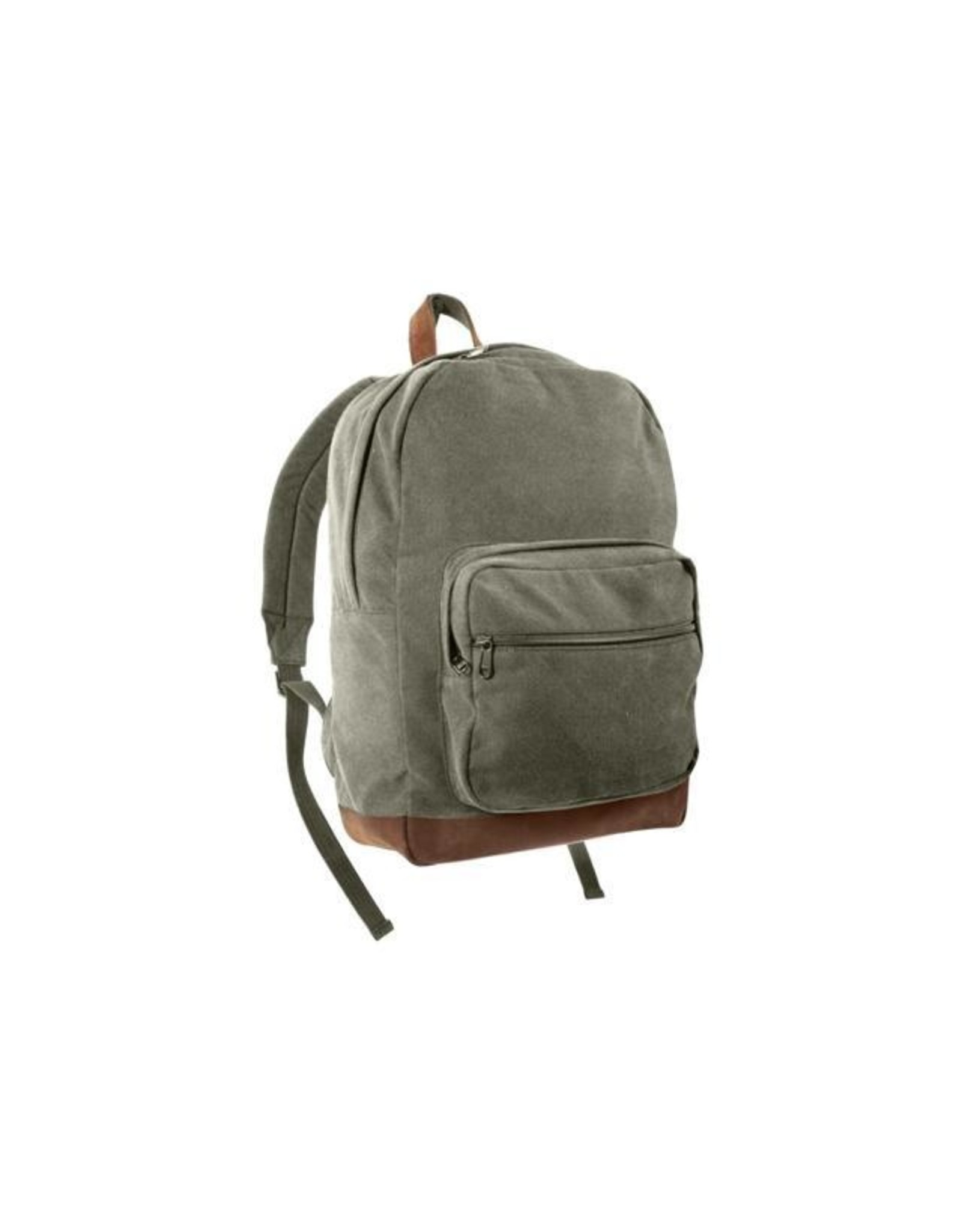 ROTHCO Canvas Teardrop Pack W/ Leather Accents - Olive Drab/Brown