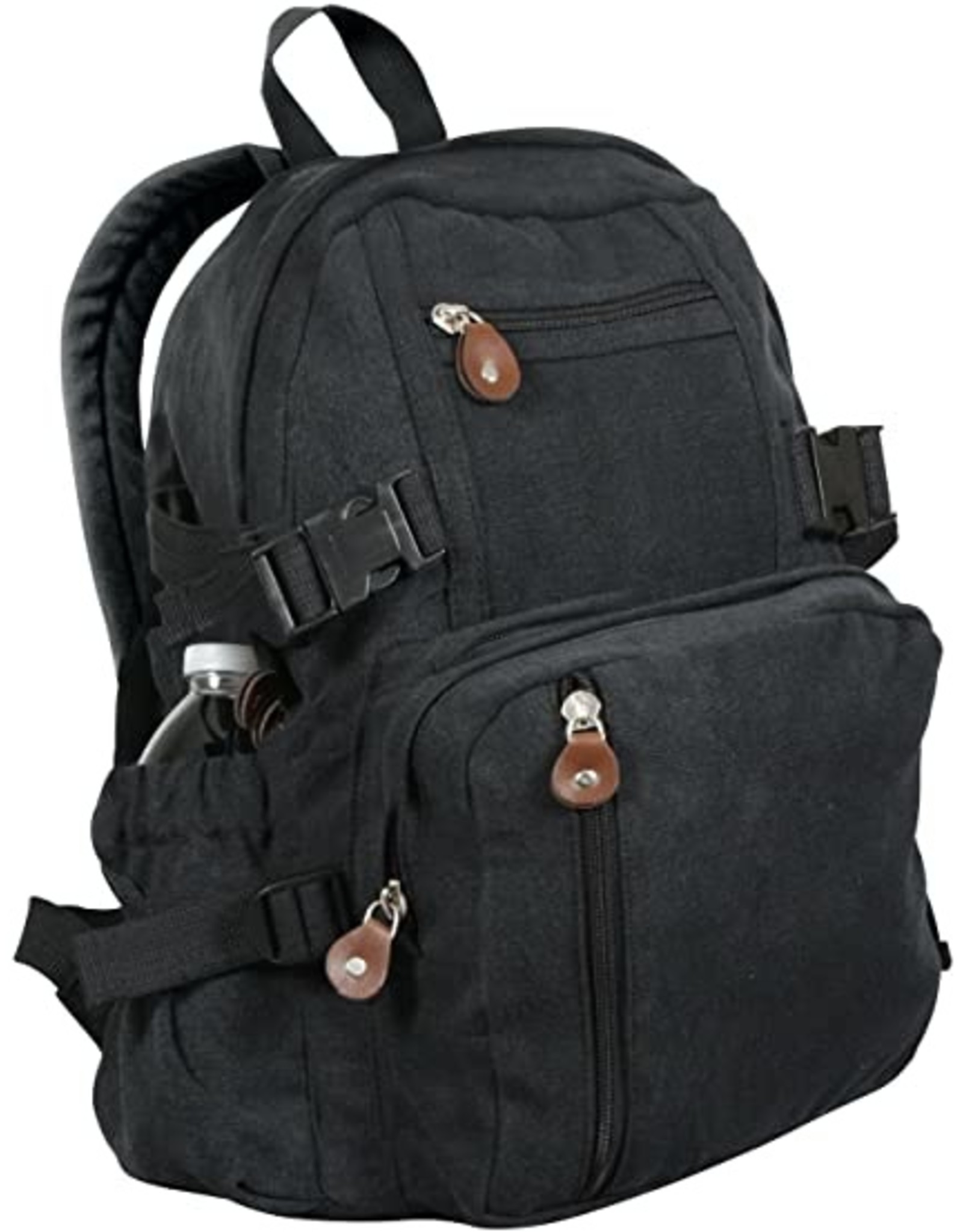ROTHCO Vintage Canvas Mini Backpack - Black