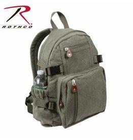 ROTHCO Rothco Vintage Canvas Mini Backpack - 9152- OD