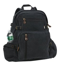 ROTHCO Rothco Jumbo Vintage Backpack - 9262 - BLACK