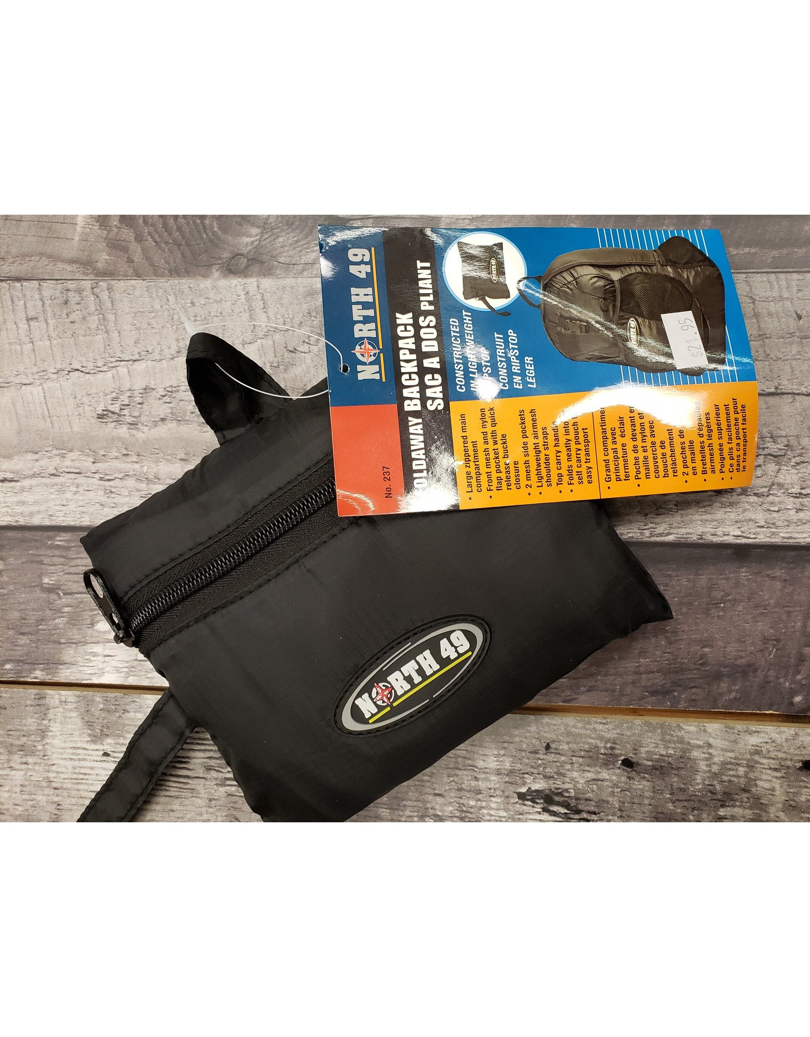 NORTH 49 North 49 - Foldaway Backpack - Black