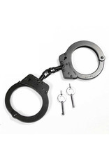 RUKO KNIVES Double Lock Black Steel Handcuffs - G-222FB