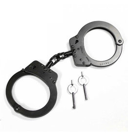 RUKO KNIVES Double Lock Black Steel Handcuffs - G-222FB