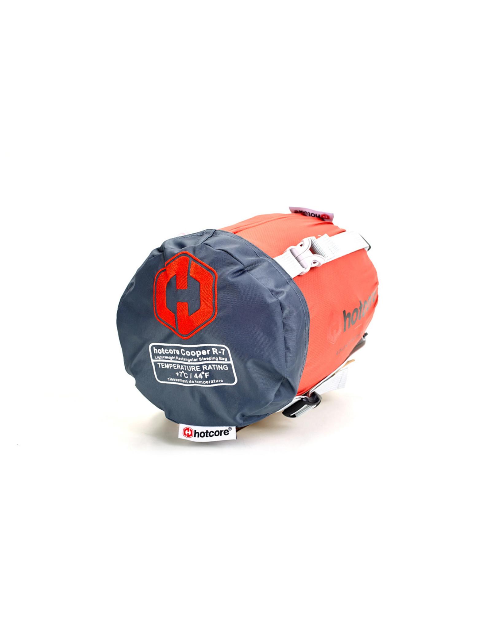 HOTCORE HOTCORE-COOPER R-7- LIGHTWEIGHT RECTANGULAR SLEEPING BAG, BURNT ORANGE- 7C/44F