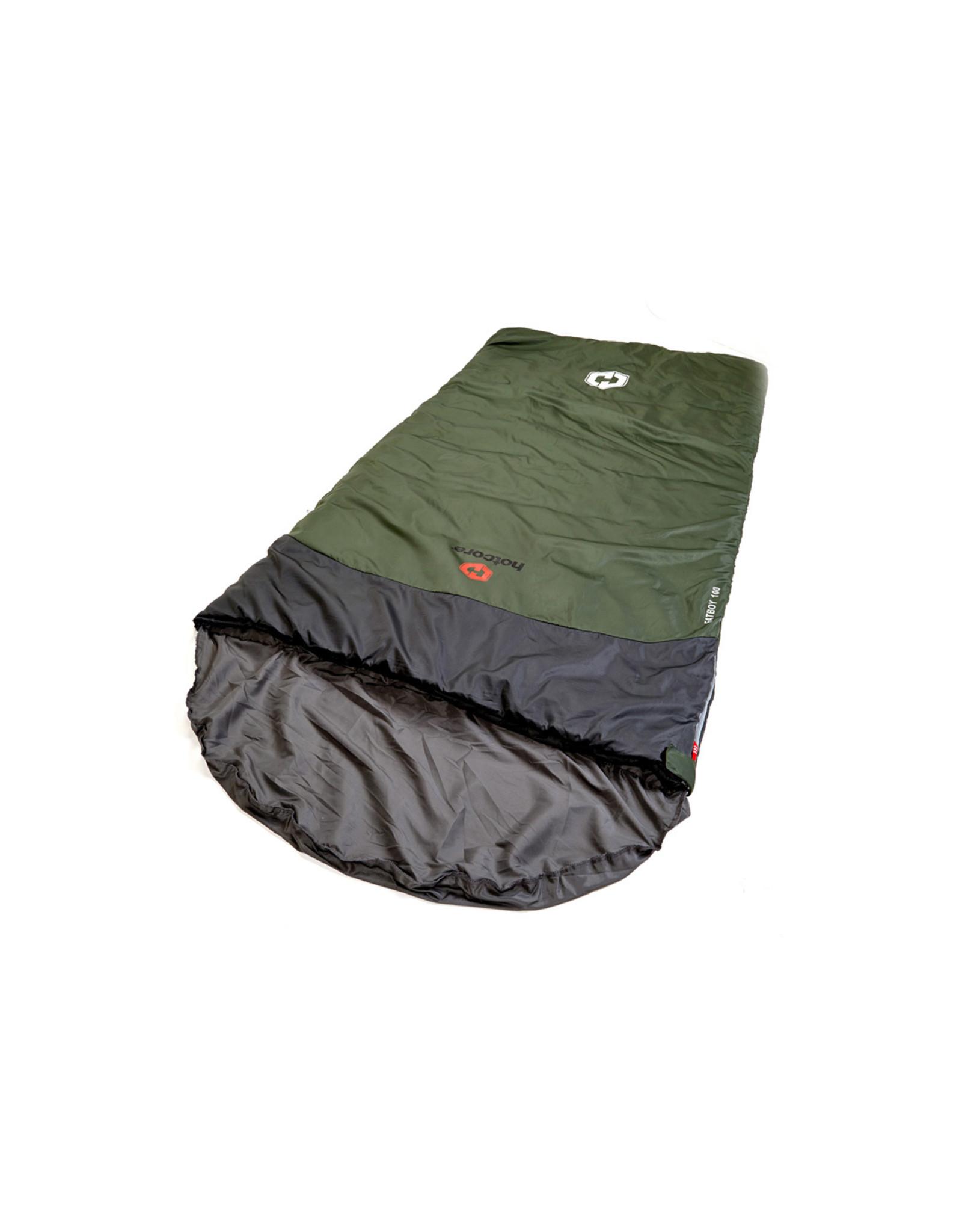HOTCORE HOTCORE- FATBOY 100- OVERSIZED RECTANGULAR SLEEPING BAG, GREEN/ 7°C (44°F) Limit: 0°C (32°F)