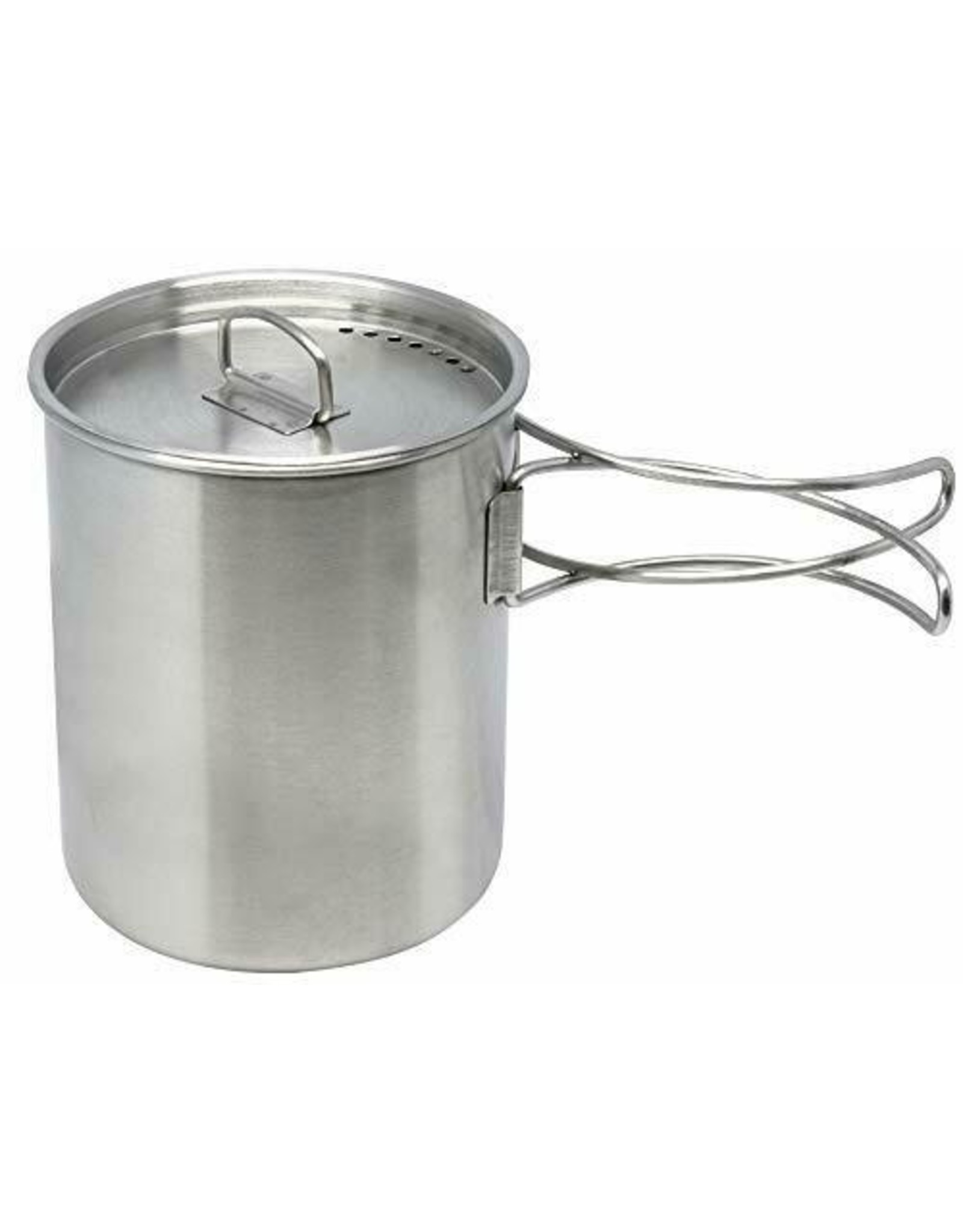 WORLD FAMOUS SALES STAINLESS STEEL MUG-POT WITH LID #691