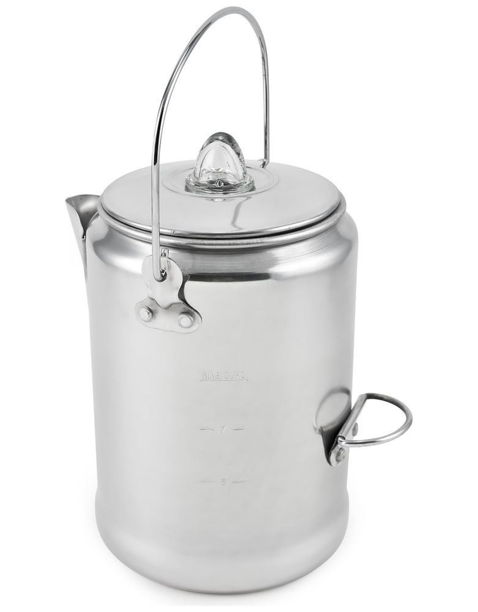CHINOOK TECHNICAL OUTDOOR ALUMINUM COFFEE PERCOLATOR 9 CUP