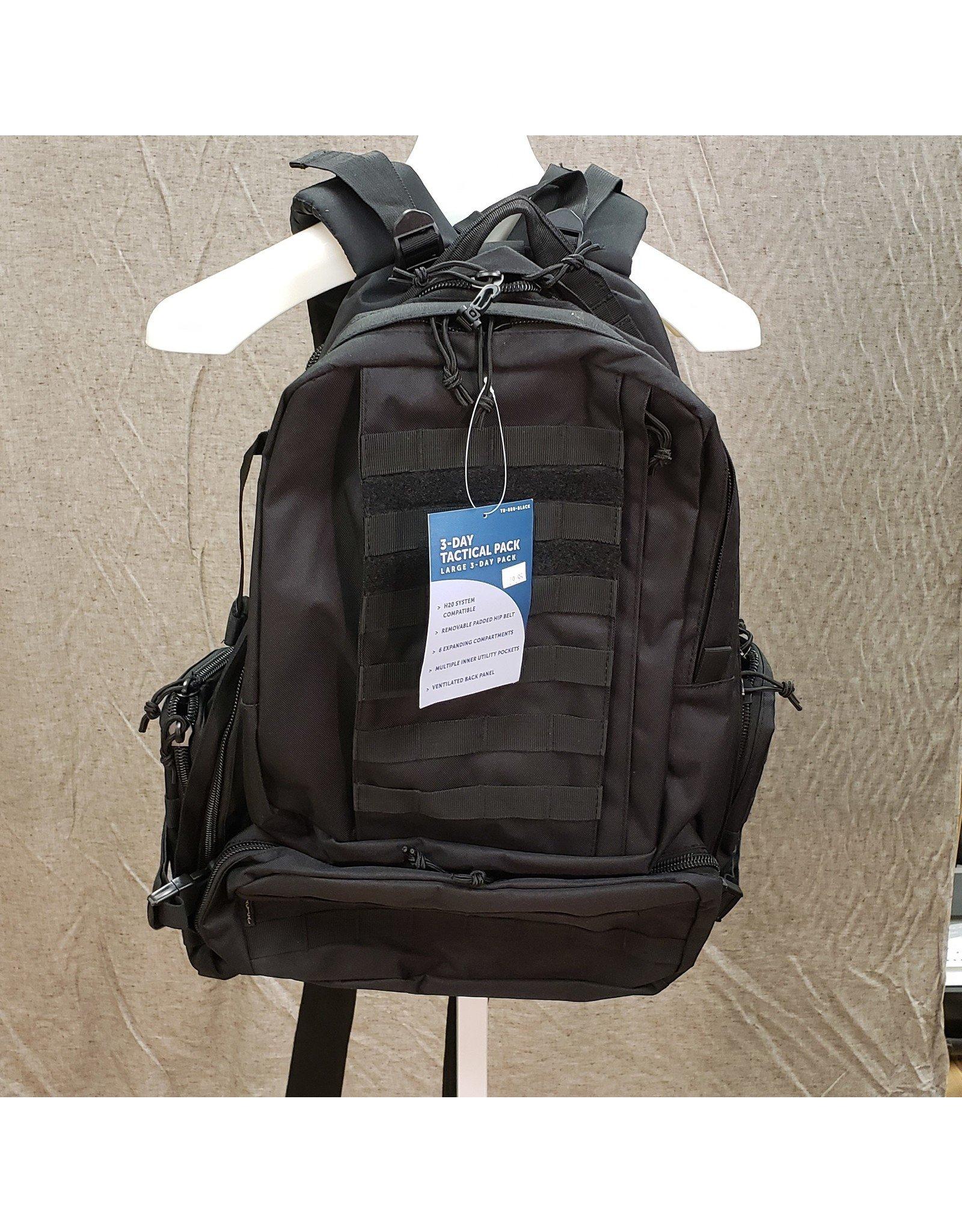 LARGE 3 DAY TACTICAL BAG-BLK - 85127