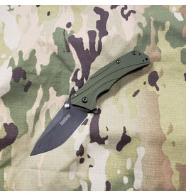 KERSHAW KNIVES KERSHAW KNOCKOUT - OLIVE, BLACK