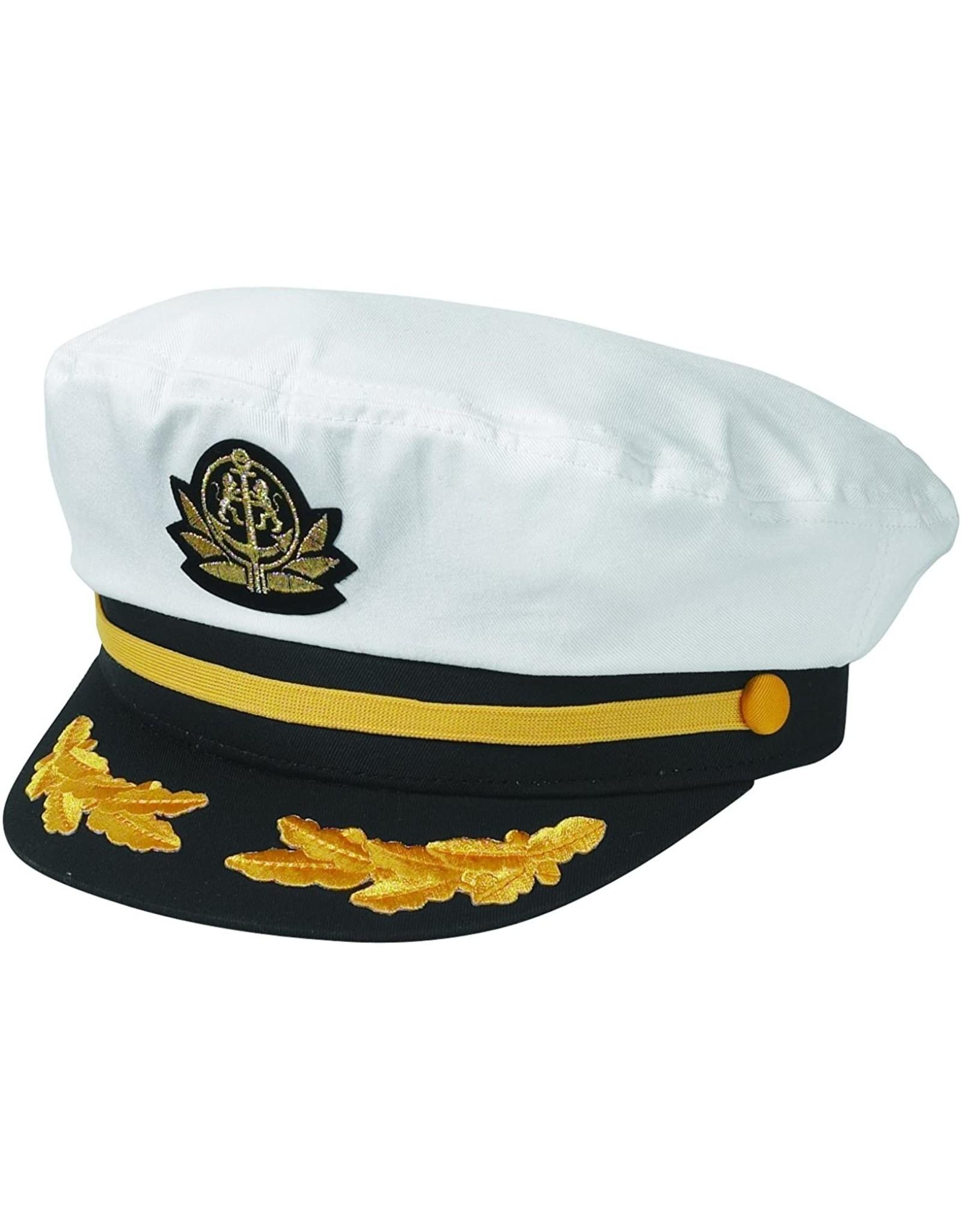 BRONER YACHT CAPTAIN HAT, WHITE
