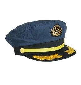 BRONER YACHT CAPTAIN HAT, NAVY BLUE
