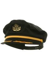 BRONER YACHT CAPTAIN HAT, BLACK