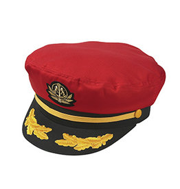BRONER YACHT CAPTAIN HAT, RED