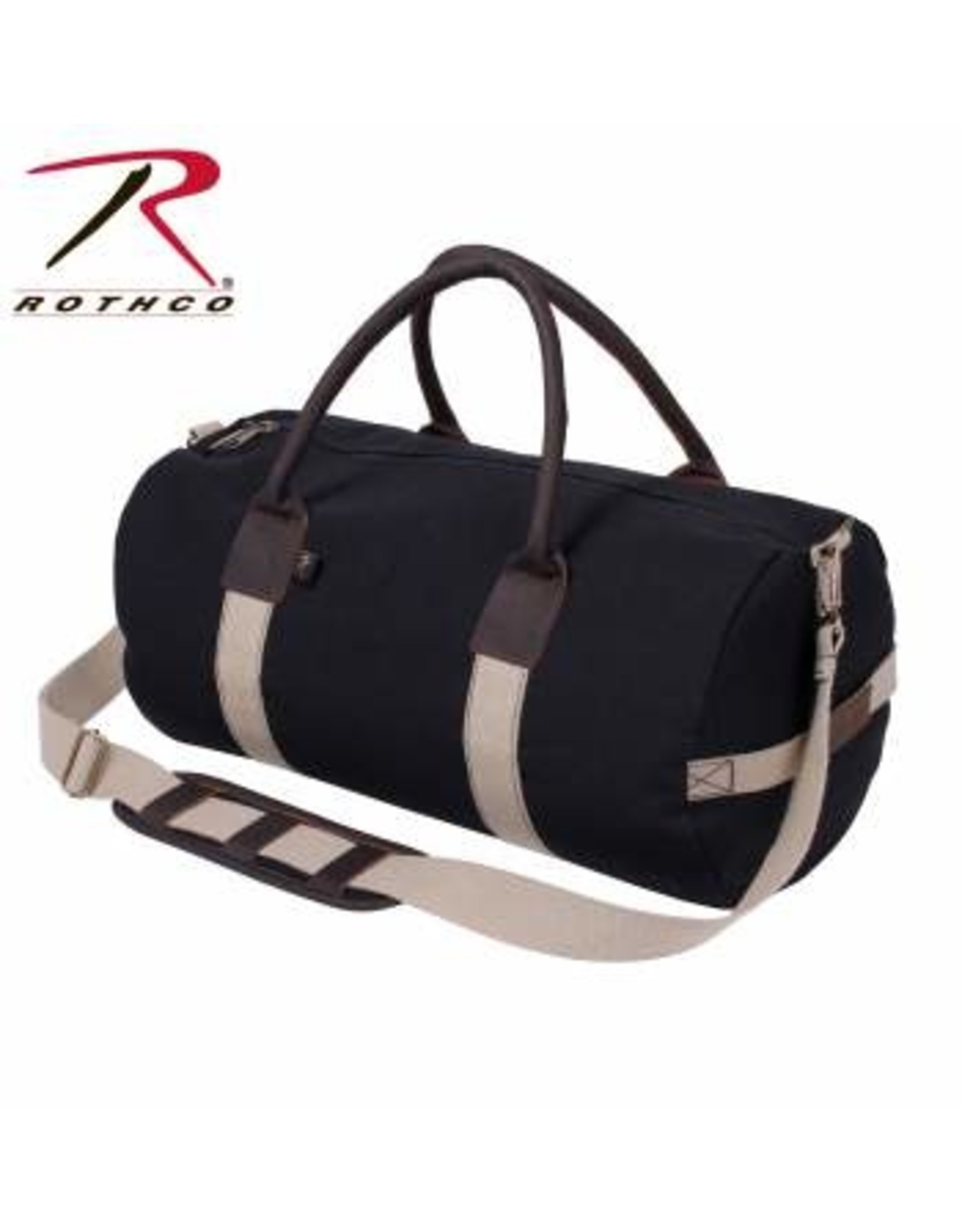 ROTHCO Rothco Canvas & Leather Gym Duffle Bag - Black