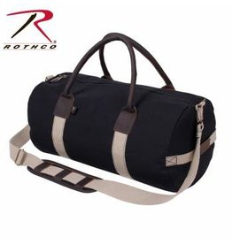 ROTHCO Rothco Canvas & Leather Gym Duffle Bag - Black