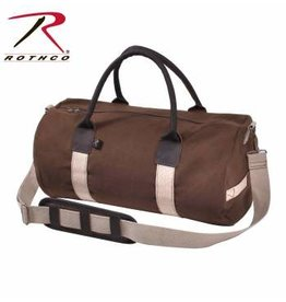 ROTHCO Rothco Canvas & Leather Gym Duffle Bag - Earth Brown