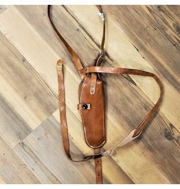 SURPLUS BROWN LEATHER SHOULDER HOLSTER USED