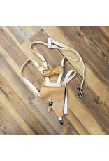 SURPLUS LEATHER SHOULDER HOLSTER WITH MAG -TAN
