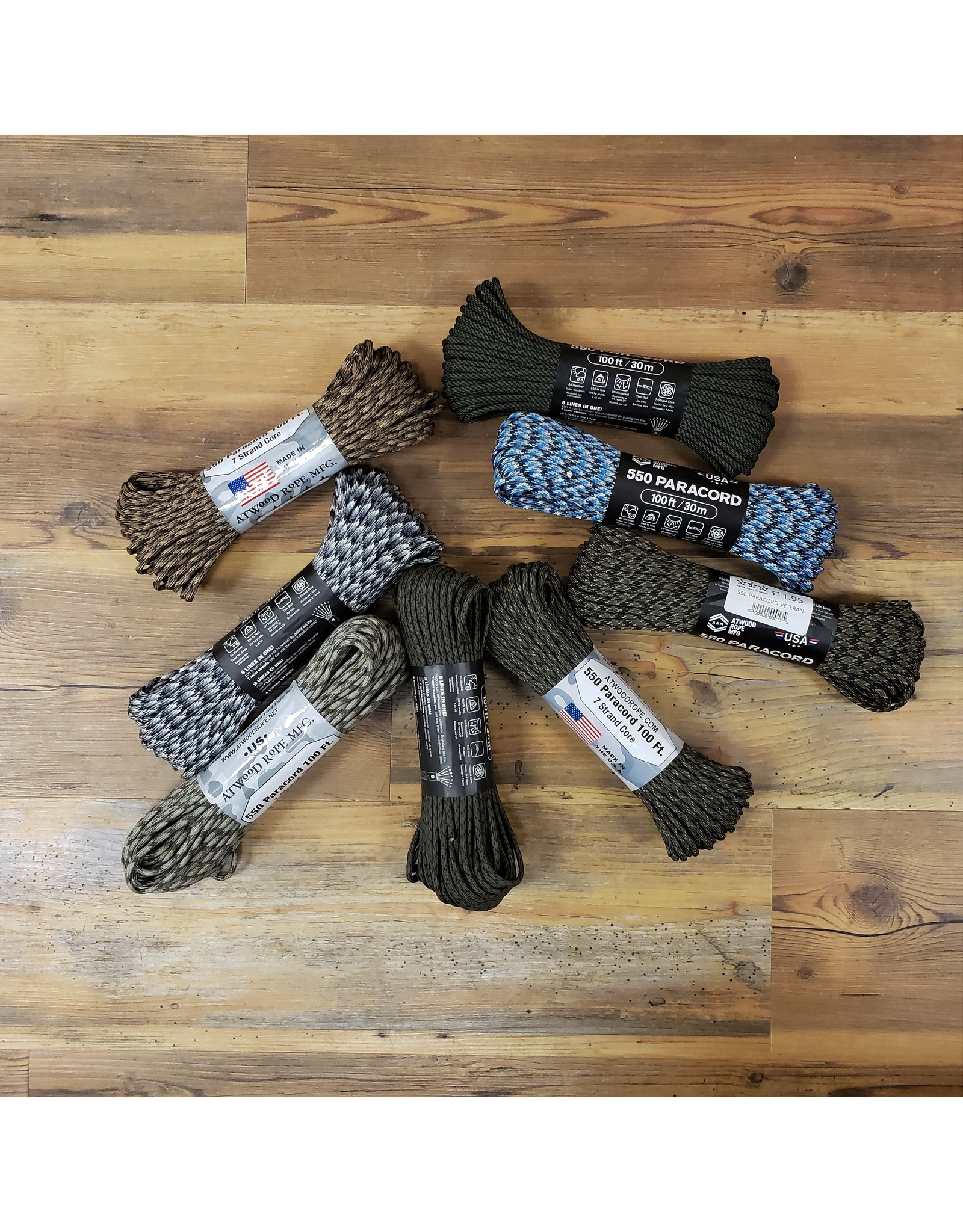 ATWOOD ROPE MFG 550 PARACORD CAMO DESIGNS