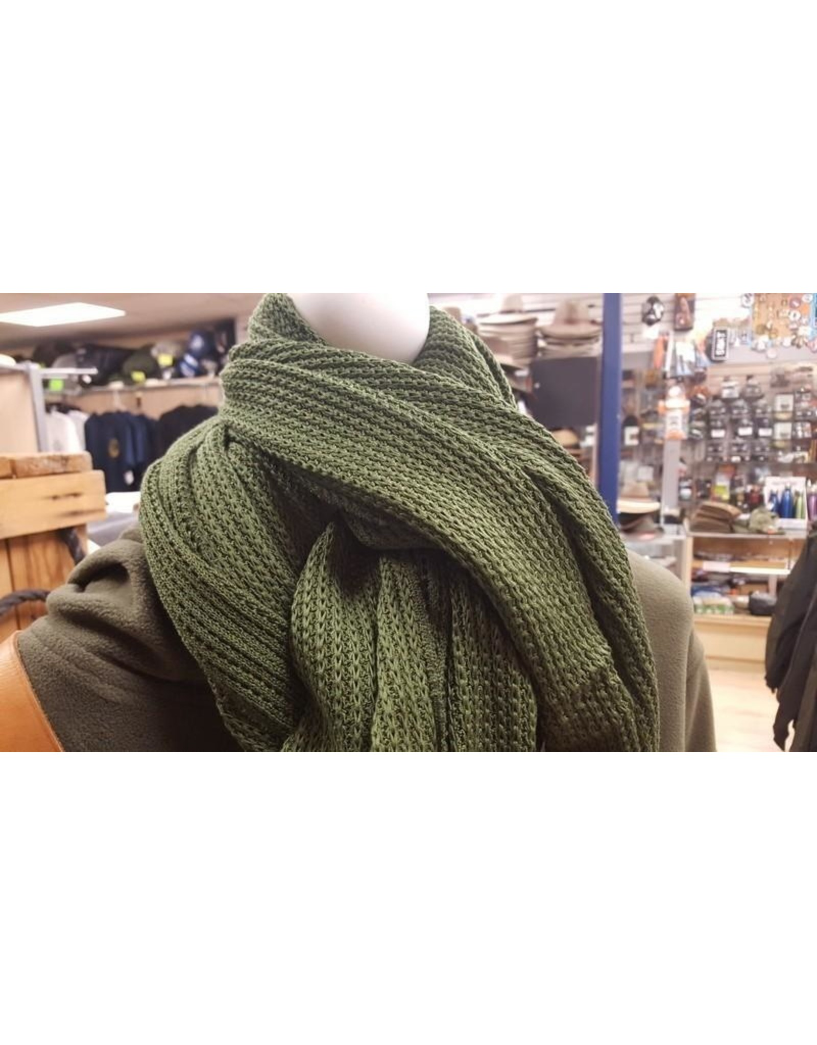 SURPLUS CANADIAN COTTON OLIVE SCARF-NEW