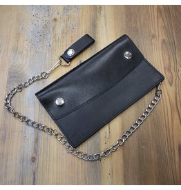 LEATHER CHAIN WALLET LARGE