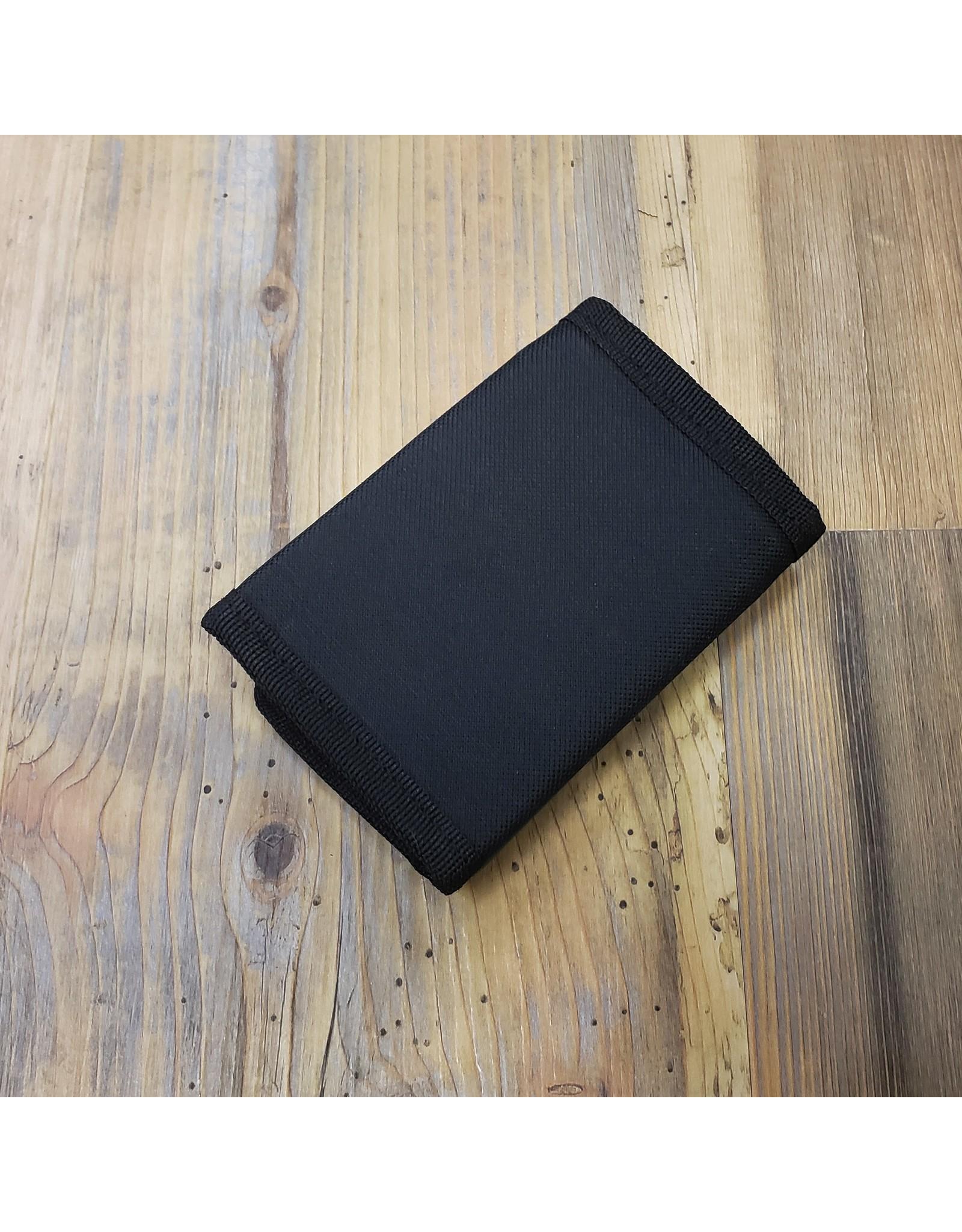 WORLD FAMOUS SALES ZIPPER TRI-FOLD WALLET, BLACK - 61-017