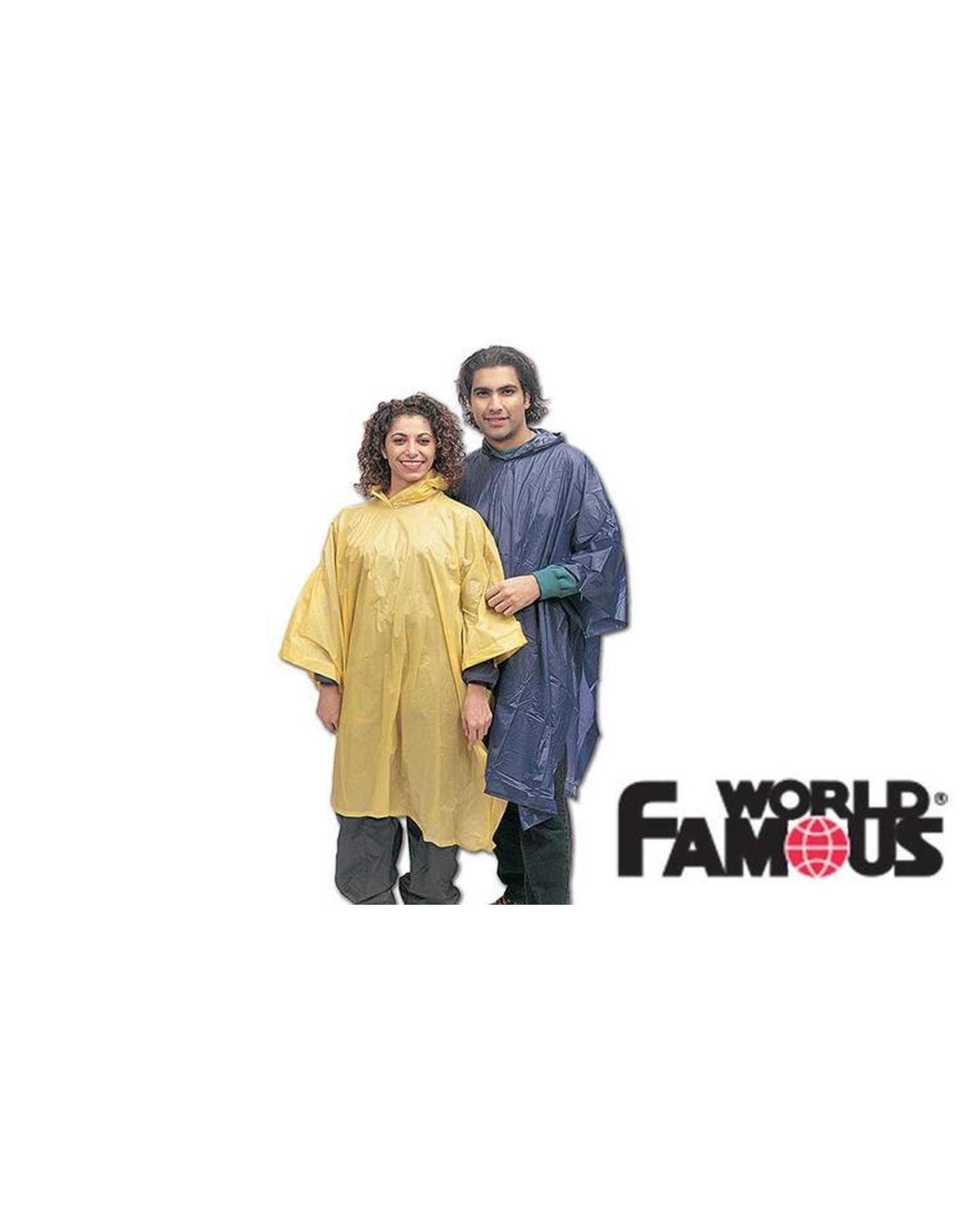 WORLD FAMOUS SALES VINYL PONCHO