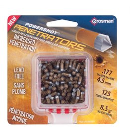 CROSMAN CROSMAN .177 GOLD FLIGHT PENETRATOR 8.5gr LEAD FREE PELLETS(125ct)