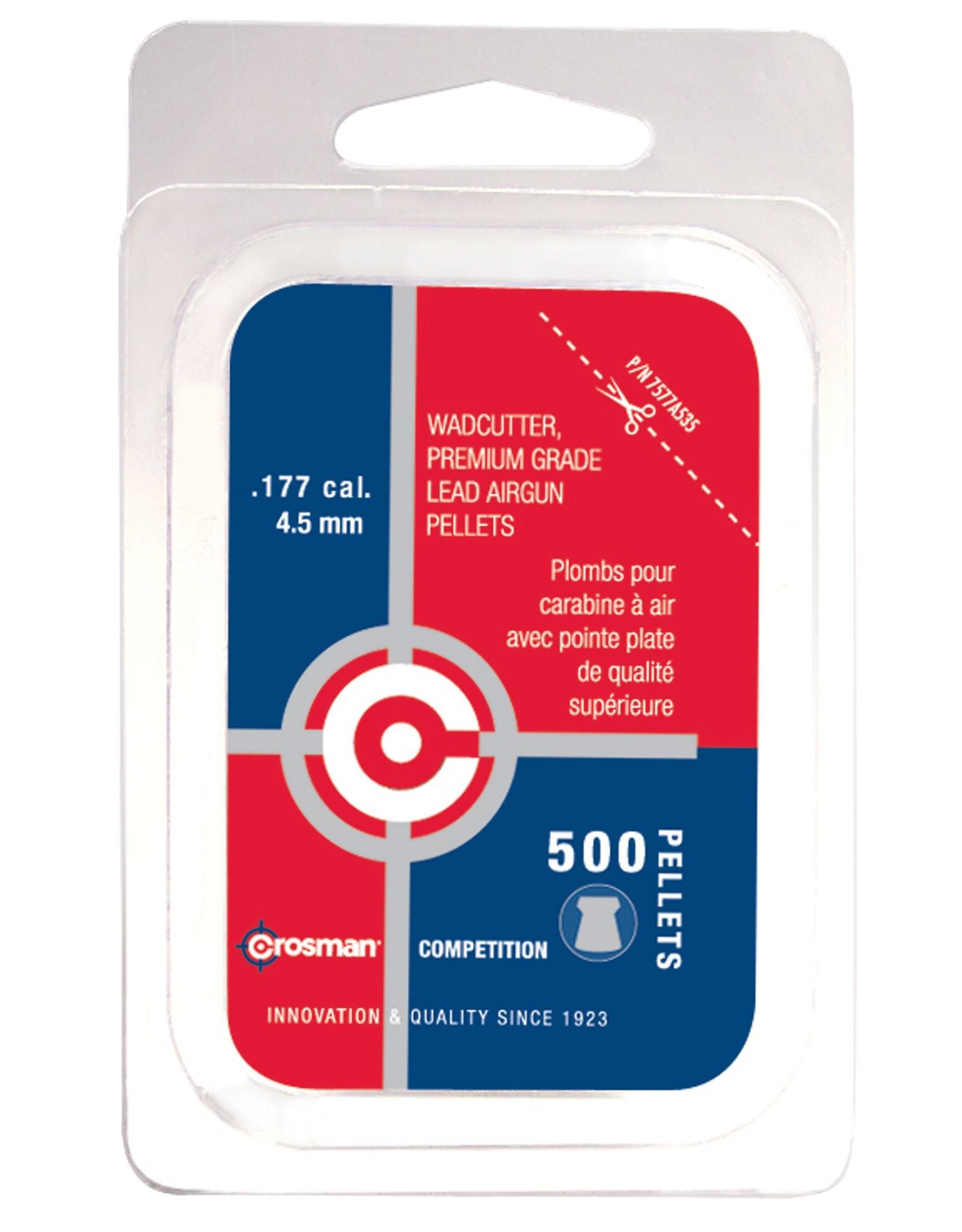 CROSMAN CROSMAN .177 WADCUTTER 7.4gr PELLETS (500ct)