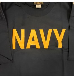 MARSHLANDS NAVY T-SHIRT YELL PRINT