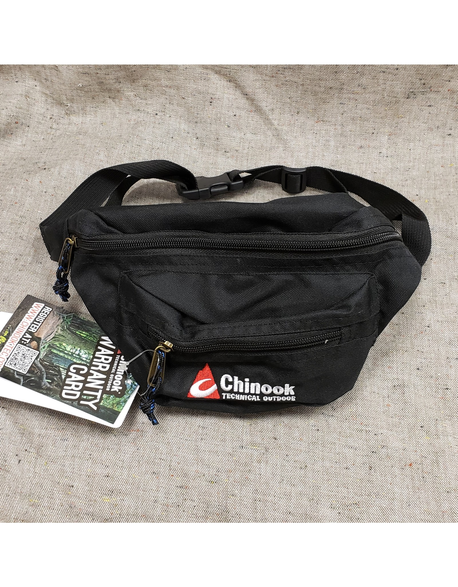 CHINOOK TECHNICAL OUTDOOR CHINOOK BLACK WAIST POUCH - WALLET AND KEY HOLDER