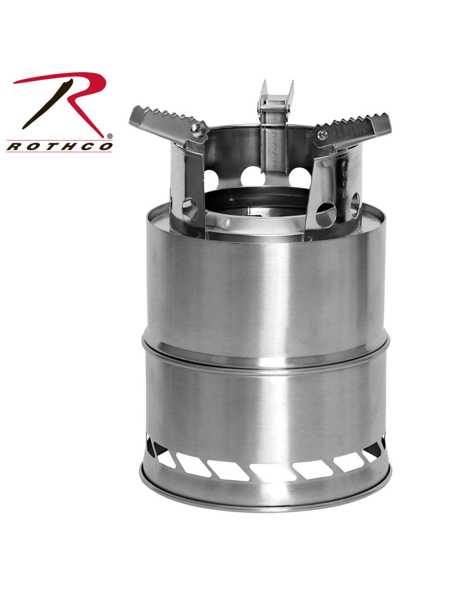 ROTHCO 6 PIECE STAINLESS STEEL CAMPING STOVE
