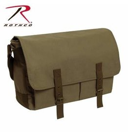 ROTHCO DELUXE VINTAGE CANVAS MESSENGER BAG-OLIVE