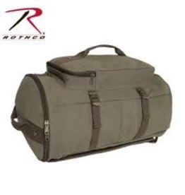 "ROTHCO CONVERTIBLE 19"" CANVAS DUFFLE OD"