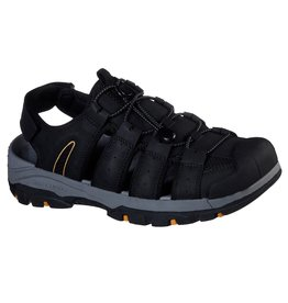 SKECHERS 204116 TRESMEN OUTRIVER MEN'S SANDALS, BLACK