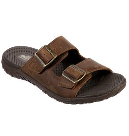 SKECHERS 66096 REGGAE SANDER MEN'S SANDALS, BROWN