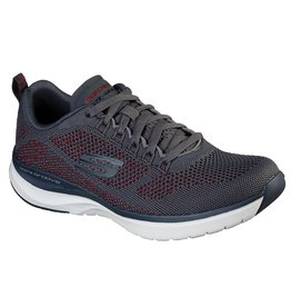 SKECHERS 232030 ULTRA GROOVE ROYAL DRAGOON MEN'S SHOES, CHARCOAL/RED
