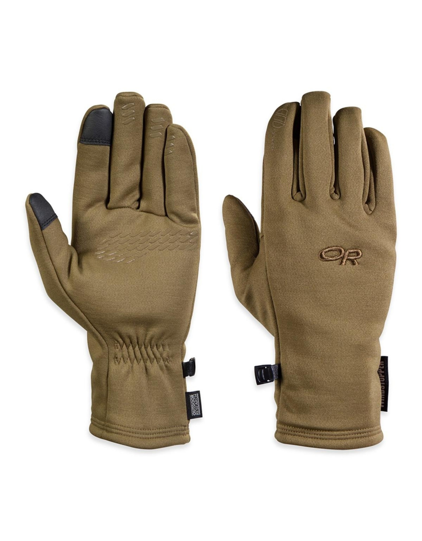 OUTDOOR RESEARCH OR BACKSTOP SENSOR GLOVES - COYOTE