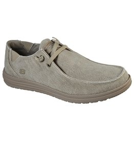 SKECHERS 66387 MELSON RAYMON MEN'S SHOES, TAUPE