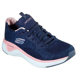 SKECHERS 13328 SOLAR FUSE BRISK ESCAPE WOMEN'S SHOES, NAVY/PINK