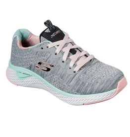 SKECHERS 13328 SOLAR FUSE BRISK ESCAPE WOMEN'S SHOE, GRAY/MULTI