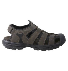 SKECHERS 64382 GARVER LIVEOAK MEN'S SANDALS, CHOCOLATE