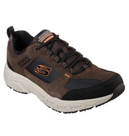 SKECHERS 51893EWW OAK CANYON MEN'S SHOES, CHOCOLATE/BLACK