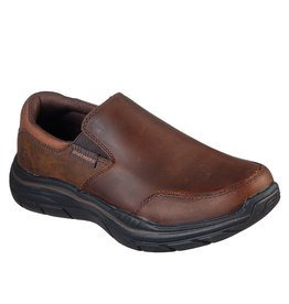 SKECHERS 66416 EXPECTED 2.0 OLEGO MEN'S SHOES, DARK BROWN